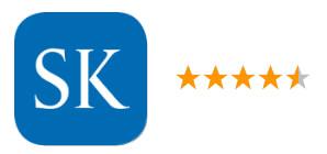 Newsapp Logo und Sterne